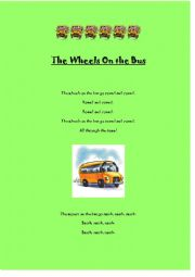 English Worksheet: The Wheels On the Bus