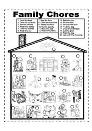 English Worksheets: Family Chores - Family Duties