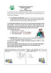 English Worksheet: Speaking test