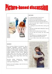 English Worksheet: Picture-based discussion books