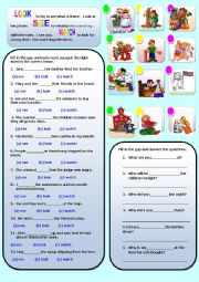 English Worksheets: LOOK, SEE, WATCH