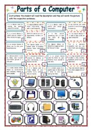 Printables Computer Technology Worksheets english teaching worksheets computer parts technology of a computer