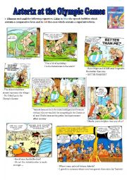 English Worksheet: Asterix at the Olympic Games - Comparative/Superlative
