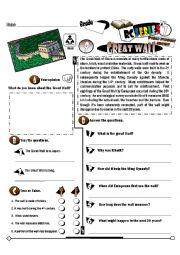 English Worksheet: RC Series_World Wonders Edition_09 Great Wall of China (Fully Editable)