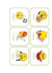 English Worksheets: Action Flashcards