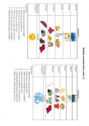 English Worksheets: Holiday communication game 2/2