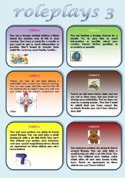 English Worksheet: Roleplays 3