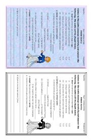 English Worksheet: listening activity