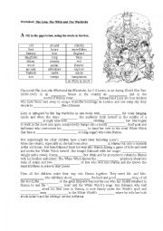 Printables The Lion The Witch And The Wardrobe Worksheets printables the lion witch and wardrobe worksheets english wordsearch worksheet wardrobe