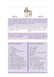 English Worksheets: apologise and forgive