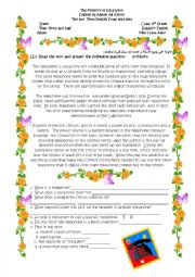 English Worksheet: 8th grade final exam