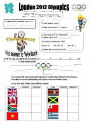English Worksheet: LONDON 2012 OLYMPICS webquest