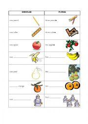 English Worksheets: Singular-plural
