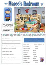 English Worksheet: Marco�s bedroom