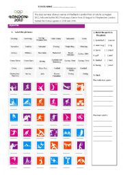 English Worksheet: London Olympic Games