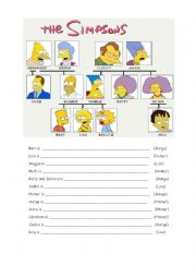 English Worksheets: Genitive Case - The simpsons