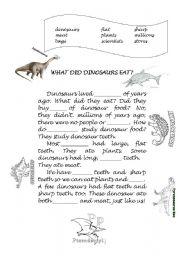 English Worksheets: Dinosaur