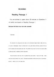 English Worksheets: IELTS READING