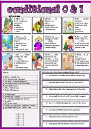 English Worksheets: conditional 0&1