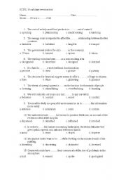 English Worksheet: vocabulary test ECPE (proficiency) - Fully Editable+ Key