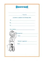 English Worksheets: contract
