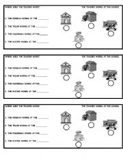english worksheets places in the community. Black Bedroom Furniture Sets. Home Design Ideas