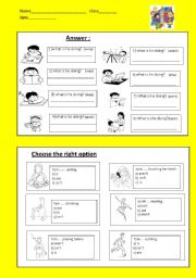English Worksheets:  answer the questions and choose the right option