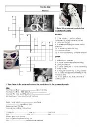 English Worksheets: Rihanna - You Da One