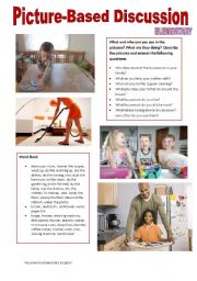 English Worksheet: Picture-based discussion Elementary - (05) Housework