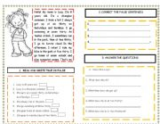 English Worksheets: MY WEEKEND