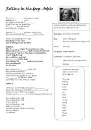 English Worksheets: Adelde-Rolling in the deep