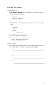 English worksheet: Song: Gonna make you a star by David Essex