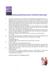 English Worksheets: Tell No One, Harlan Coben, reading comprehension
