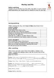 video marley and me esl worksheet by elisestaves rh eslprintables com Marley and Me Cast Marley and Me Ending
