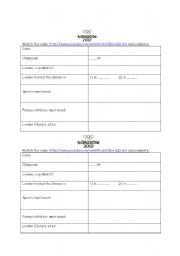 English Worksheet: London Olympics video