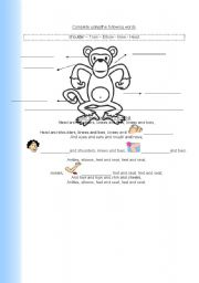 English Worksheets: Head and shoulders