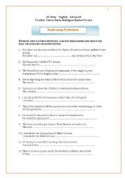 Rephrasing worksheet