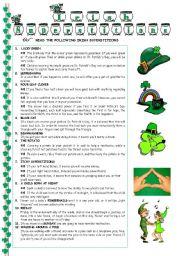 English Worksheet: Irish Superstitions