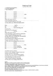 English Worksheets: hand in my pocket song by alanis morissette