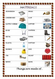 English worksheets materials for Material list for building a house spreadsheet