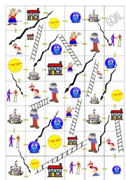 Snakes & Ladders Board Game - Self Introduction Phrases