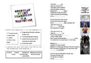 English Worksheet: Coldplay - Every tear is a waterfall