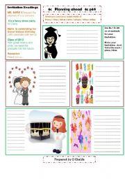 English Worksheet: invitation cards