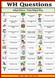 graphic relating to Free Printable Wh Questions Worksheets named Wh queries worksheets