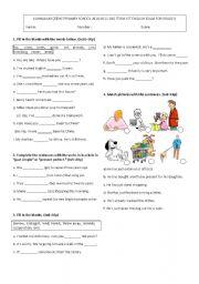 English Worksheet: 8th grade 2011-2012 2nd term 1st exam