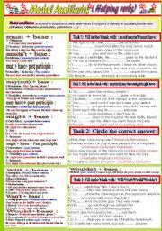 English Worksheets: Modals ( worksheet 1)