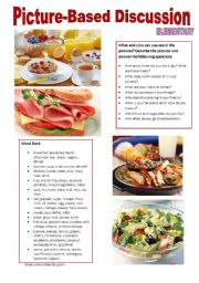 English Worksheet: Picture-based discussion Elementary - (09) Meals