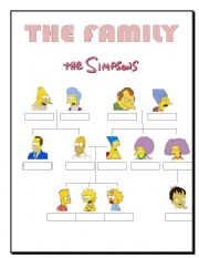 english teaching worksheets the simpsons family. Black Bedroom Furniture Sets. Home Design Ideas