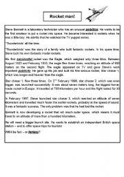 English Worksheets: Rocket Man