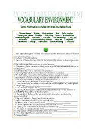 VOCABULARY ENVIRONMENT